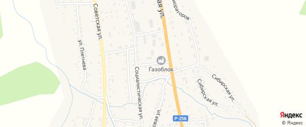 Трактовая улица на карте села Шебалино с номерами домов