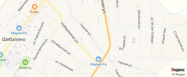Горная улица на карте села Шебалино с номерами домов