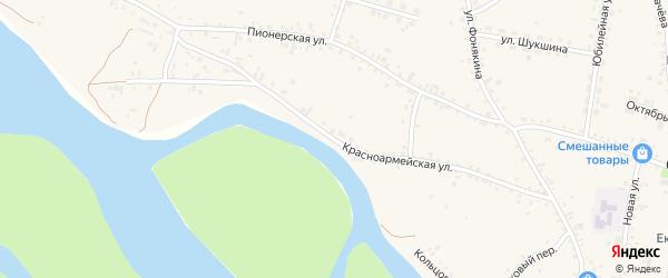 Красноармейская улица на карте села Сростки с номерами домов