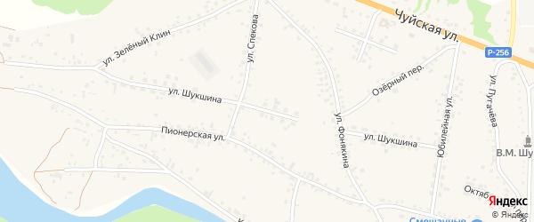 Улица Шукшина на карте села Сростки с номерами домов