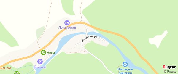 Заречная улица на карте села Камлака с номерами домов