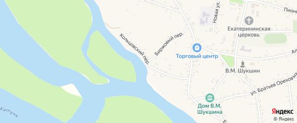 Кольцовский переулок на карте села Сростки с номерами домов