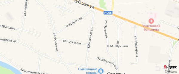 Юбилейная улица на карте села Сростки с номерами домов
