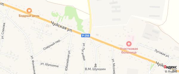 Чуйская улица на карте села Сростки с номерами домов