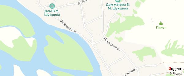 Советская улица на карте села Сростки с номерами домов