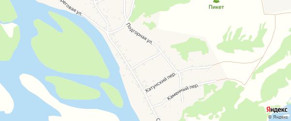 Подгорный переулок на карте села Сростки с номерами домов