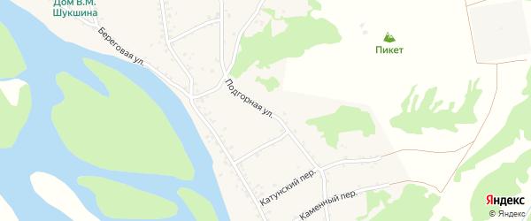 Подгорная улица на карте садового некоммерческого товарищества Радуги с номерами домов