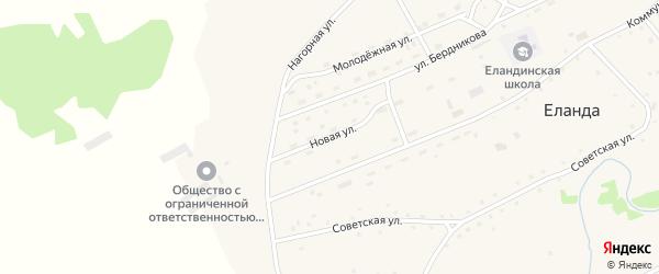 Новая улица на карте села Еланды с номерами домов