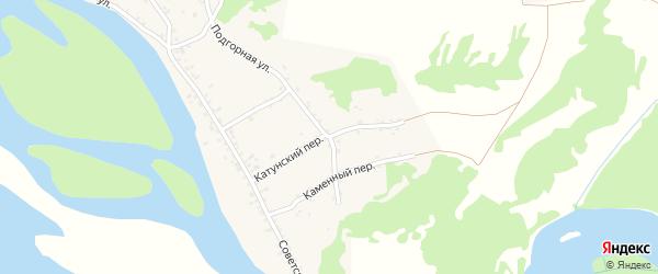Катунский переулок на карте села Сростки с номерами домов