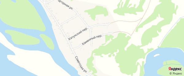 Каменный переулок на карте села Сростки с номерами домов
