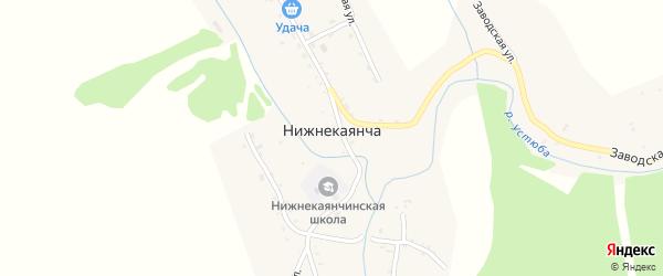 Центральная улица на карте села Нижнекаянчи с номерами домов