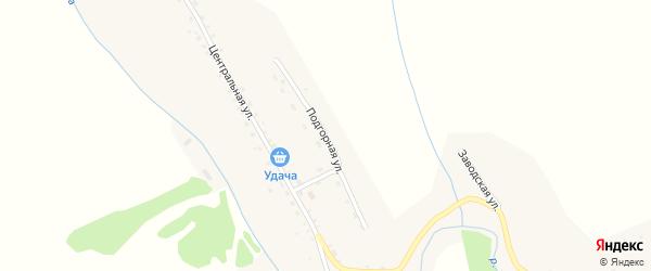 Подгорная улица на карте села Нижнекаянчи с номерами домов