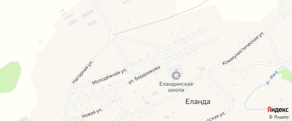 Молодежная улица на карте села Еланды с номерами домов