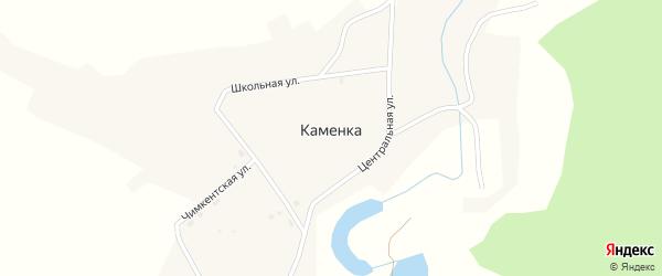 Чимкентская улица на карте села Каменки с номерами домов