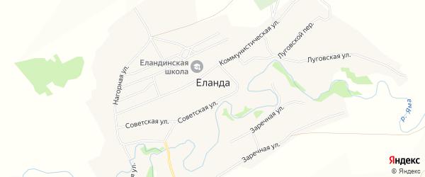 Карта села Еланды в Алтайском крае с улицами и номерами домов