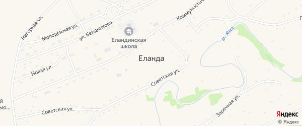 Советская улица на карте села Еланды с номерами домов