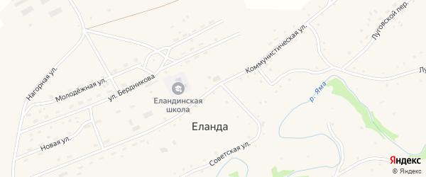 Коммунистическая улица на карте села Еланды с номерами домов