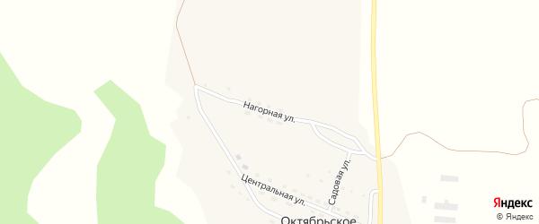 Нагорная улица на карте поселка Октябрьского с номерами домов