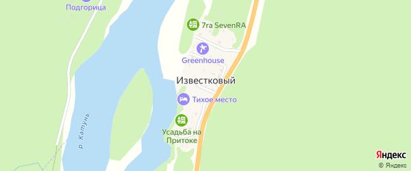 Прибрежная улица на карте Известкового поселка с номерами домов