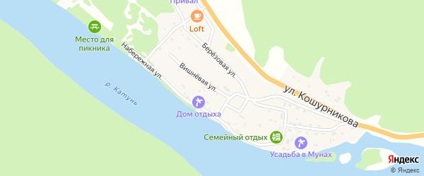 Вишневая улица на карте села Усть-Муны с номерами домов