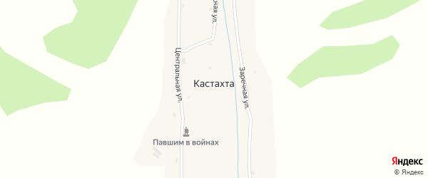 Набережная улица на карте села Кастахты с номерами домов
