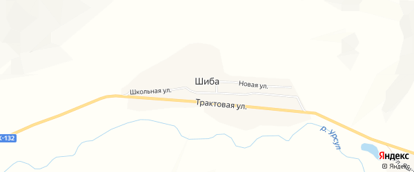 Карта села Шибы в Алтае с улицами и номерами домов