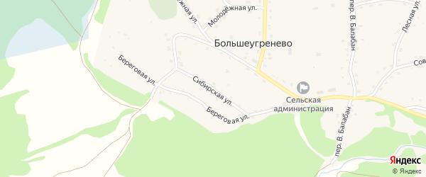 Сибирская улица на карте села Большеугренево с номерами домов