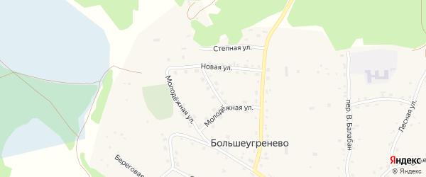 Октябрьский переулок на карте села Большеугренево с номерами домов