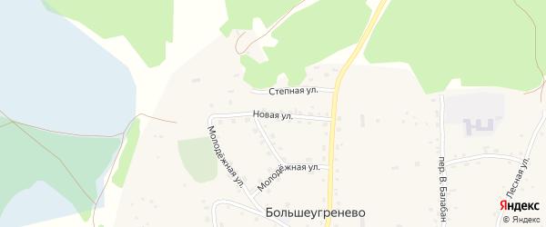Новая улица на карте села Большеугренево с номерами домов