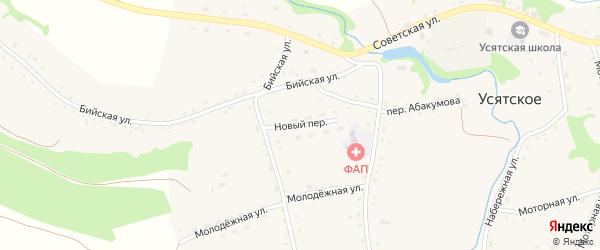 Новый переулок на карте Усятского села с номерами домов