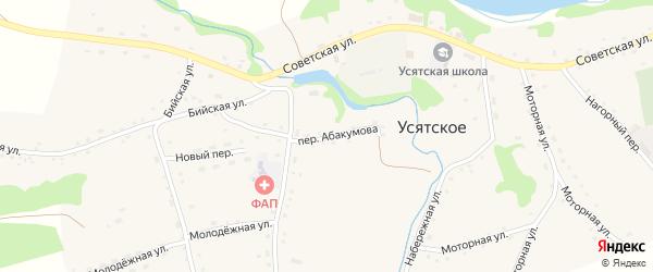 Переулок Абакумова на карте Усятского села с номерами домов