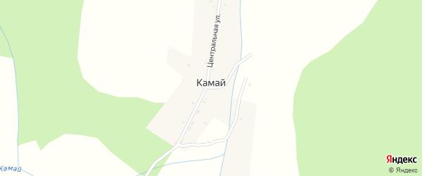 Центральная улица на карте села Камая с номерами домов