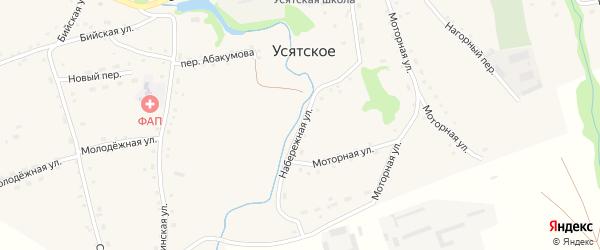 Набережная улица на карте Усятского села с номерами домов