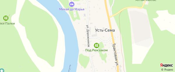 Улица Дорожников на карте поселка Усть-семы с номерами домов