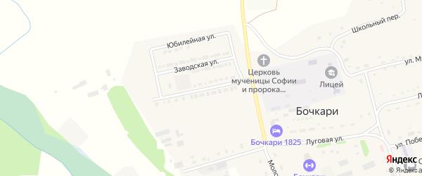 Улица Имени Н. А. Козлёнкова на карте села Бочкарей с номерами домов