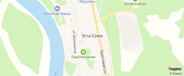 Туристический переулок на карте поселка Усть-семы с номерами домов