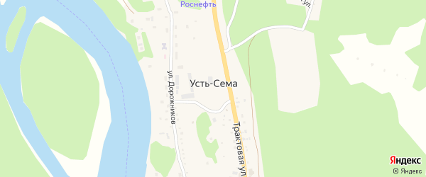 Солнечная улица на карте поселка Усть-семы с номерами домов