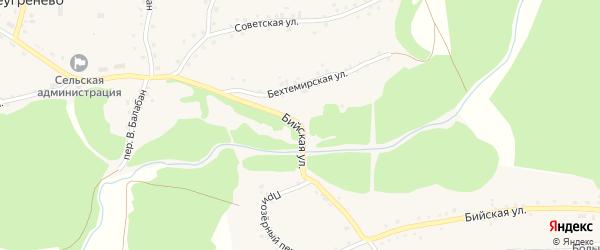 Бийская улица на карте села Большеугренево с номерами домов