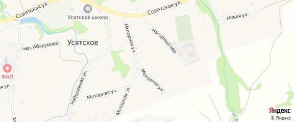 Луговая улица на карте Усятского села с номерами домов