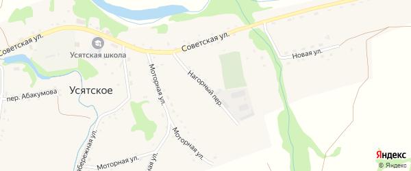 Нагорный переулок на карте Усятского села с номерами домов