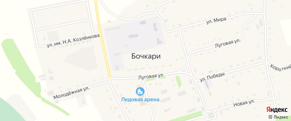 Бригадный переулок на карте села Бочкарей с номерами домов