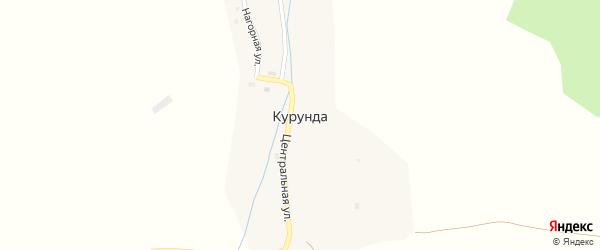 Центральная улица на карте поселка Курунды с номерами домов