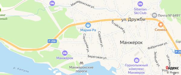 Совхозный переулок на карте села Манжерка с номерами домов