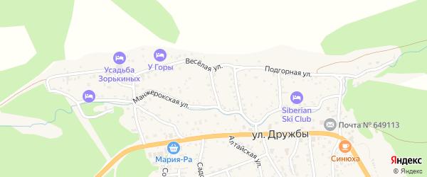 Речной переулок на карте села Манжерка с номерами домов