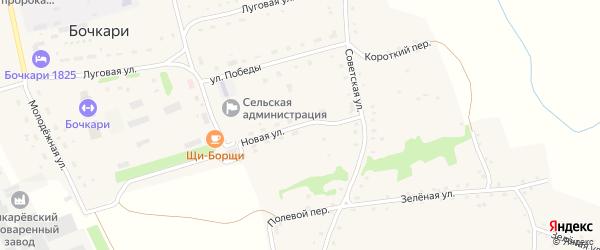 Новая улица на карте села Бочкарей с номерами домов