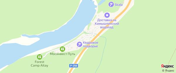 Лесной переулок на карте поселка Барангола с номерами домов
