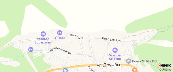 Подгорная улица на карте села Манжерка с номерами домов