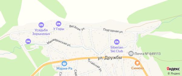 Цветочный переулок на карте села Манжерка с номерами домов