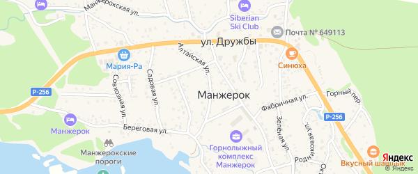 Алтайская улица на карте села Манжерка с номерами домов