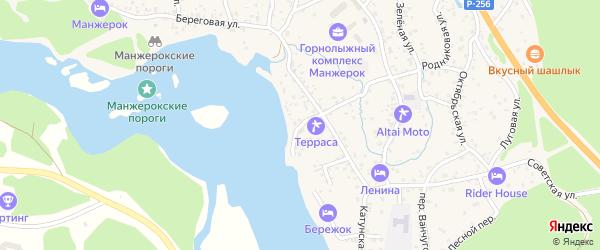 Светлый переулок на карте села Манжерка с номерами домов